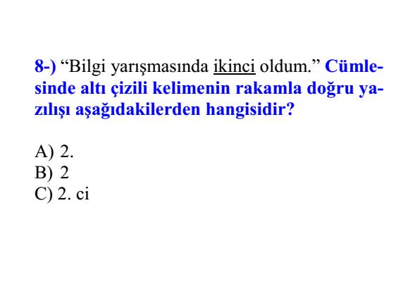 3.Sınıf Online Türkçe Deneme Testi Çöz - 3.Sınıf Türkçe Testi (8)_ 2019-2020